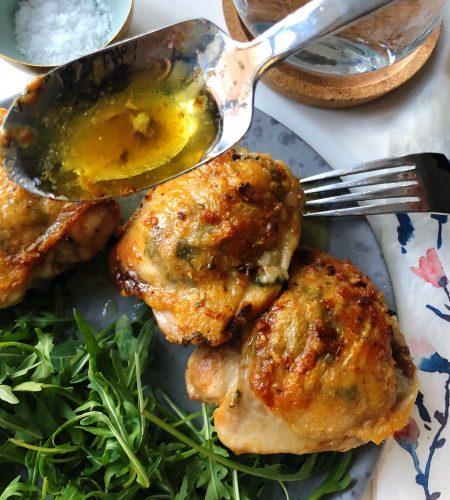 Kycklinglår med parmesan & vitlök